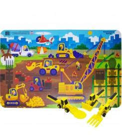 Podkładka stołowa dla dzieci - PLAC BUDOWY