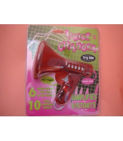 Zabawka w formie megafonu, która przekształca głos mówiącego