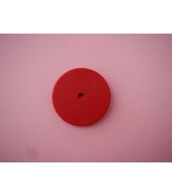 Nakładka blokująca na słomkę płaska czerwona
