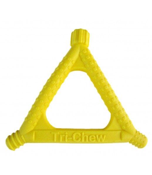 Gryzak logopedyczny Beckman TRÓJKĄT miękki żółty