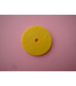 Nakładka na słomkę płaska żółta
