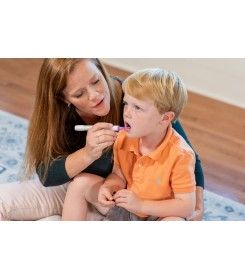 terapia pozycji oralnej z użyciem szpatułki guzikowej